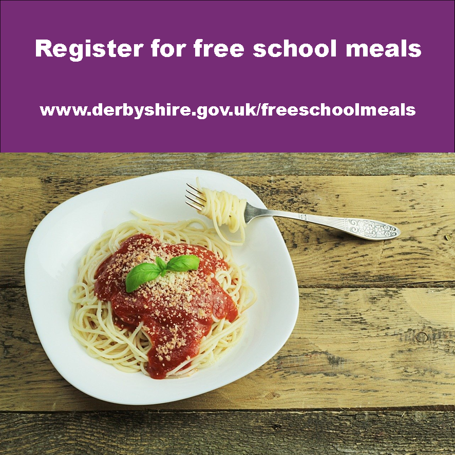 Register for free school meals